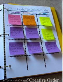 Achieving Creative Order: Daily Responsibility and Goal Sheets {Printables}