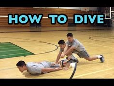 How to DIVE for a Volleyball - Volleyball Defense Tutorial - YouTube