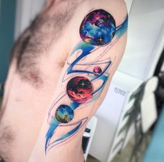 Watercolor arm piece by Adrian Bascur