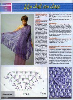Patrones de Crochet. Chal
