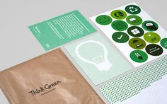 "Cute ""Think Green"" identity design"
