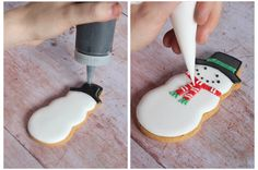 How to ice Christmas Holiday biscuits by Biscuiteers. Just follow these easy step by step tips!