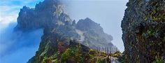 Gebirgspfad auf Madeira, Portugal