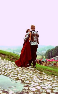 Medieval: Lovers by ~WhenGodsCollide on deviantART ← This reminds me of when Aravis was waiting for Cor to come back when she was waiting at the path.