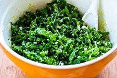 Raw Kale Salad with Pecorino (or Parmesan) and Lemon - Kalyn's Kitchen