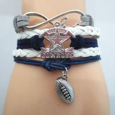 Infinity Love Dallas Cowboys Football - Show off your teams colors! Cutest Love Dallas Cowboys Bracelet on the Planet! Don't miss our Special Sales Event. Many teams available. www.DilyDalee.co