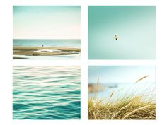 beach photography print set nautical decor 5x7