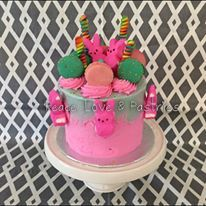 Bright colorful chaos cake! Peace, Love & Pastries #nola