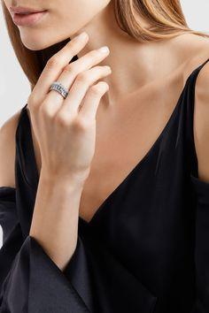 Anita Ko | Ava Wave 18-karat white gold diamond ring | NET-A-PORTER.COM