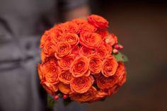 Buquê na cor laranja Flame - Pantone 2017