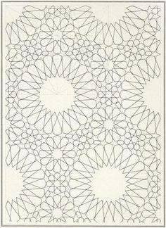 Pattern in Islamic Art - BOU 140 moorish arabesque moroccan muslim geometric tile design #islamicart