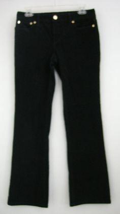 Tory Burch Pants Bootcut Classic Black Corduroy Jeans Womens Size 28 #ToryBurch #BootCut
