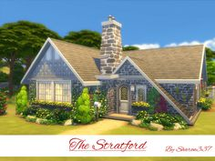 The Stratford house by sharon337 at TSR via Sims 4 Updates