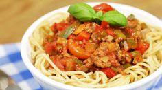 Operation Transformation Recipe - A delicious Spaghetti Bolognese dish from scratch using wholewheat pasta Aldi Recipes, Real Food Recipes, Healthy Recipes, Spaghetti Bolognaise, How To Can Tomatoes, Bolognese, Meal Planner, Cherry Tomatoes, The Help