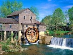 Old Grist Mill - Water Wheel - autumn colors, Mill, river, water wheel ...