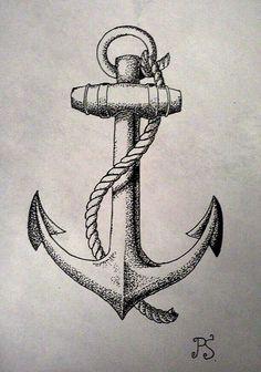 30 floral anchor tattoos for women tattooblend dotwork anchor tattoo . Vintage Anchor Tattoo, Navy Anchor Tattoos, Anchor Tattoo Men, Vintage Tattoo Sleeve, Anker Tattoo Design, Design Tattoo, Tattoo Designs, Tattoos Skull, Body Art Tattoos