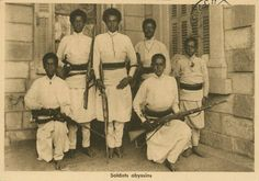 African Armies often fought with outdated weaponry but Menelik II imported new armament from france.