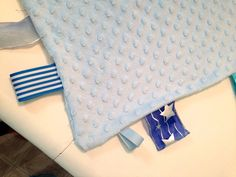 One Hour baby project! Taggy Blankets!