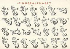 Finger Alphabet by Sylvia B.