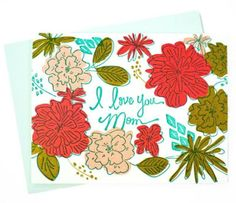 Get straight to the point with this cheery letterpress Mother's Day card <3
