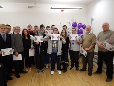 Green Action with their certificates at the November 2014 celebration.