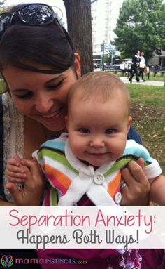 Do you have a hard time being away from your baby? You're not alone. Separation anxiety happens to moms too! #parenting #separationanxiety #motherhood