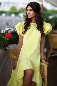 Lezzarine: дизайнерские платья | Платье с воланом