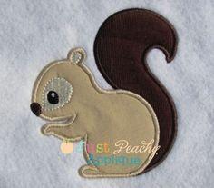 Squirrel Applique Design