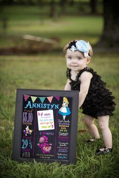 Alice in wonderland first birthday by MichelleRayeDesigns on Etsy