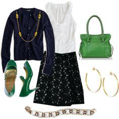 Preppy- love the green!