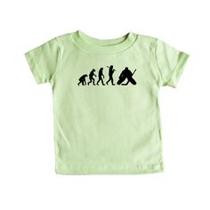 Evolution Hockey Goalie Sport Sports Sporty Team Teams Ice Skating Violence Rough Exercise Fitness SGAL2 Baby Onesie / Tee