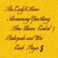 Happy Anniversary Lady 8 Home! Contest Xtreme! Win $100 $$$