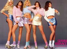 supermodels  retro style fashion