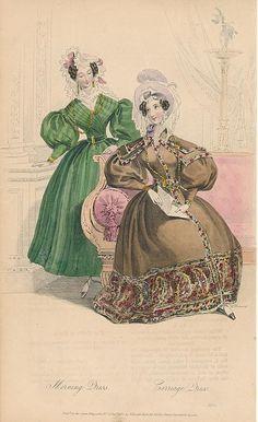 November, 1832 - Morning Dress, Carriage Dress - Court Magazine