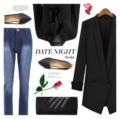 """""""#datenight"""" by meyli-meyli ❤ liked on Polyvore featuring JULIANNE, DateNight, Clutch, blouse and rosegal"""