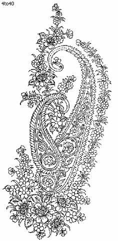 Indian Motifs Textile Pattern, Cotton Fabric, Indian Motifs Dynamic Textile Patterns, Textile Guide Delhi India