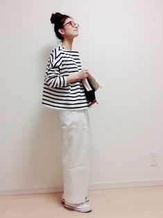 nonさんのコーディネート Japan Fashion, Daily Fashion, Love Fashion, Korean Fashion, Spring Fashion, Girl Fashion, Womens Fashion, Minimal Outfit, Minimal Fashion