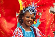 Europe\'s biggest street festival, costume parades at the Notting Hill Carnival, London, England, United Kingdom, Europe