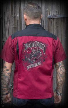 Rumble59 - Bowling Shirt - Rebel Rods #rumble59 #rockabillyrules