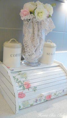 Una gallery di idee romantiche per delle scatole da cucina Shabby Chic!