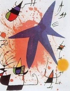 """Find the latest shows, biography, and artworks for sale by Joan Miró. Joan Miró rejected the constraints of traditional painting, creating works """"conceived w… Magritte, Joan Miro Pinturas, Miro Artist, Joan Miro Paintings, Oil Paintings, Kunst Poster, Art Moderne, Pablo Picasso, Famous Artists"""