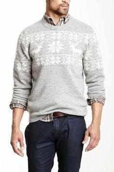 Fair Isle Wool Blend Sweater by Barque on @HauteLook