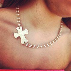 Gold & Pearl Side Cross Necklace $24.99! #SouthernFriedChics