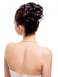 Curly Updo Back