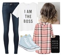 """""""Boss"""" by emmafetzer on Polyvore featuring J Brand, MANGO, H&M, Converse and Casetify"""