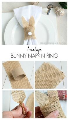 Burlap Bunny Napkin Rings – such an easy way to dress up a table for Easter! Burlap Bunny Napkin Rings – such an easy way to dress up a table for Easter! Hoppy Easter, Easter Bunny, Easy Easter Crafts, Easter Ideas, Easter Decor, Diy Ostern, Easter Celebration, Easter Holidays, Easter Party
