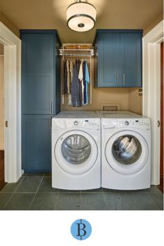 100 Fabulous Laundry Room Decor Ideas You Can Copy – You have to see this laundry room decor idea with navy blue cabinets. Laundry Room Storage, Laundry Room Design, Storage Room, Bathroom Laundry, Washroom, Diy Storage, Storage Shelves, Modern Laundry Rooms, Blue Cabinets
