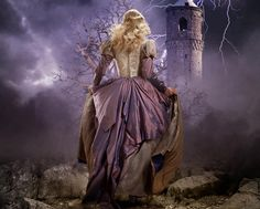 She ran away to the darkness and that's how she became the evil queen. Painting by Larry Rostant