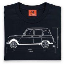PistonHeads Renault 4 T Shirt, Mens