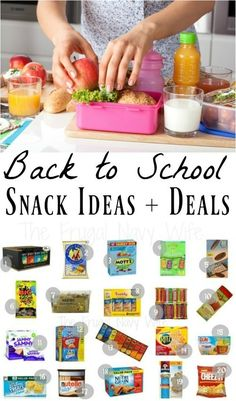 Looking for easy back to school snacks? Here are the perfect School Lunch Ideas for Kids with snacks your kids will love!